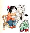 小孩与羊羔