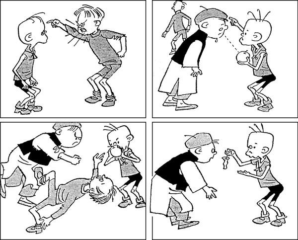 儿童四格连环画作品_儿童连环画简笔画_儿童手绘-瓜子